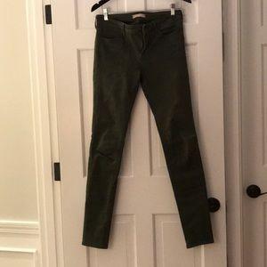 Olive denim jeans